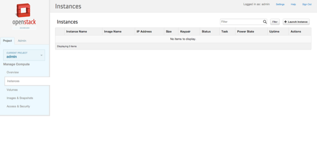 openstack instance view