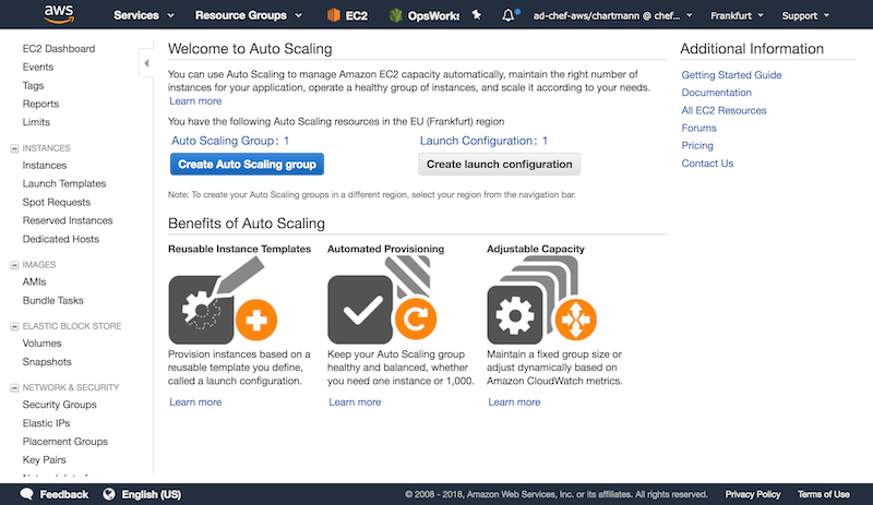 Create a new AWS Auto Scaling group