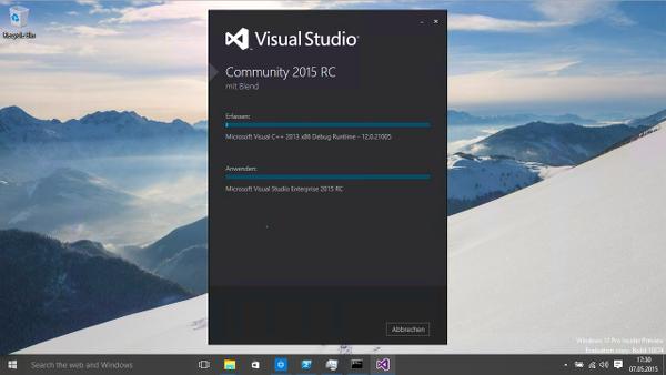 Visual Studio 2015 Installation